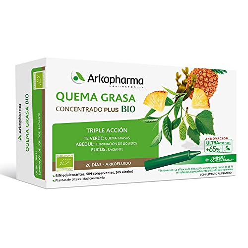 Arkopharma Arkofluido Quemagrasa BIO 20 Ampollas   Control d