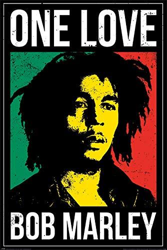 Bob Marley PP34390-Multi-Color-61 x 91.5cm Poster, Unlaminierten, Bob Walking Dead, 61 x 91.5 cm