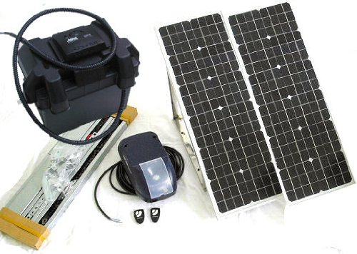 Solar Garagentorantrieb Set Akku Solarmodul Garagentor Antrieb