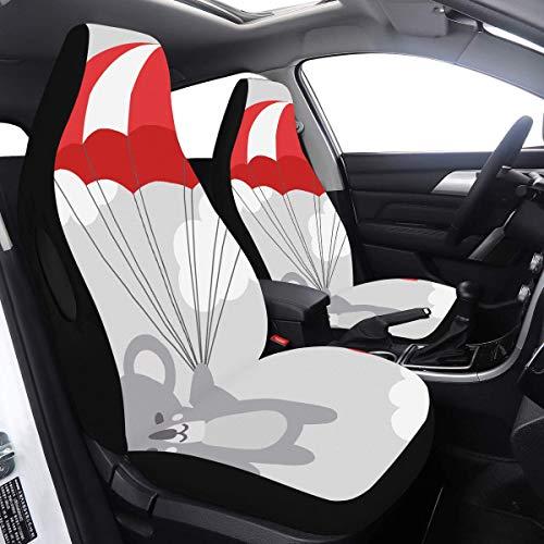 Review Car Seat Covers Large Cute Grey Cartoon Lazy Koala Car Rear Seat Cover 2 Pcs Universal Fit Ai...