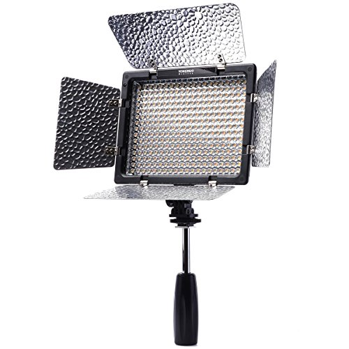 Yongnuo YN-300 II - Luz LED de video Hot Shoe para cámaras digitales/DV y 4 filtros de...