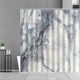 XCBN Cortinas de Ducha con diseño de Rayas de mármol Modernas, Cortina de baño de Estilo Simple para decoración del hogar, mampara de baño Impermeable A2 180x180cm