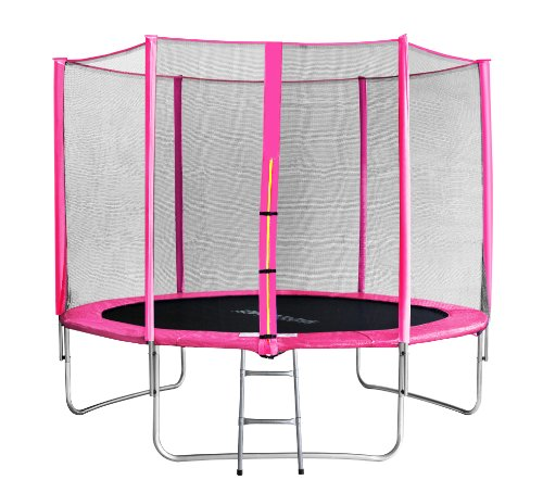 SixBros. SixJump 10FT 3.05 M Garden Trampoline Pink - Safety net - Ladder - Protection cover TP305/1694