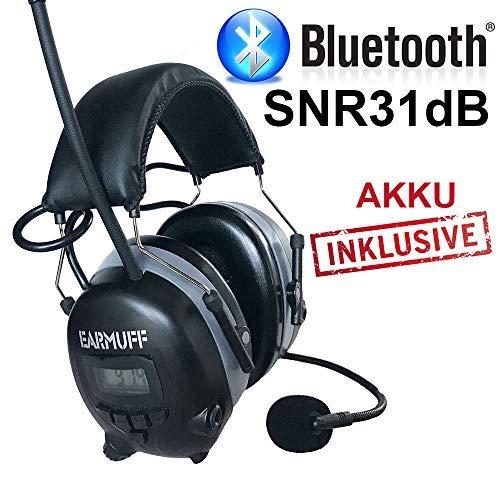 2017 DS-Alert EARMUFF dynamischer 31dB Gehörschutz mit BLUETOOTH und Surround Umgebungswahrnehmung - 10