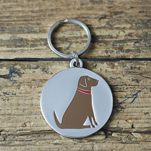 Chocolate Labrador Perro etiqueta