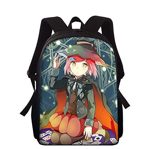 15 Inches Danganronpa Backpack Cartoon Printed Monokuma Daypack Shoulder Bags Japanese Anime Rucksack Sports Gym Bags Trigger Happy Havoc Laptop Backpacks