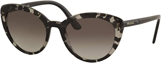 Prada Women's SPR02V SPR/02/V 528/0A7 Grey Havana Cat Eye Sunglasses 54mm