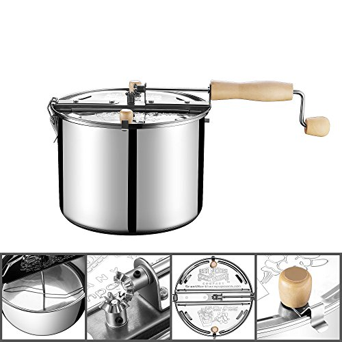 Product Image 9: Great Northern Popcorn Original Stainless Steel Stove Top 6-1/2-Quart Popcorn Popper