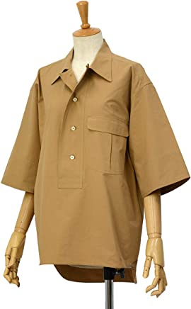 [Bagutta【バグッタ】]半袖ビッグシルエットシャツ POLOP 09103 070 コットン モカ