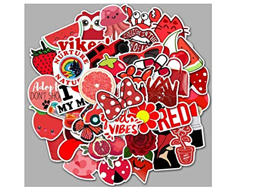 votgl stickers Cartoon Rood Fresh Computer Stickers Waterdichte Koffer Skateboard Laptop Decals Voor MacBook/HP Notebook Graffiti Sticker 50PCS