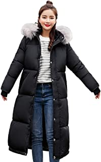 aa6f35f714674 FNKDOR Femme Blouson Doudoune d'hiver Chaud Épaissi Duvet Longue Manteau À  Capuche Mode Causal