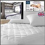 Bedtime Comforts Ltd - Funda de colchón acolchada para caravana o autocaravana (tamaño grande, incluye falda), varios tamaños a elegir (46' x 69', 22,8 cm)