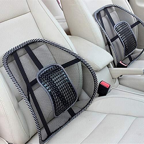Lordosenstütze Mesh, Atmungsaktiv Rückenstütze mit Massage Knoten, Lendenkissen Rückenkissen für Auto, Bürostuhl, Büro und Arbeit