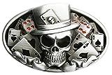 Spirit of Isis B70 Boucle de ceinture Skull Poker carte à jouer
