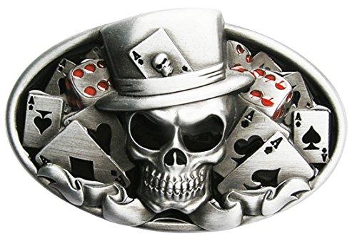 Spirit of Isis B70 Buckle Gürtelschnalle Poker Schädel
