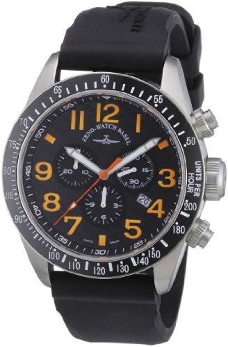 Zeno Watch Basel 6497-5030Q-s15 - Reloj analógico de Cuarzo para Hombre con Correa de Piel, Color Negr