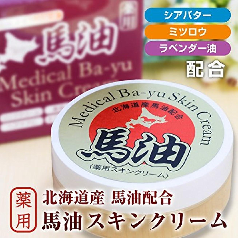 教育反響する笑北海道産馬油配合 薬用馬油スキンクリーム(20g)/医薬部外品 国産馬油//