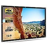 ELEPHAS Projector Screen Portable Indoor Outdoor 100 inche, 16:9 Aspect Ratio School Home Cinema 4K Foldable for Screen