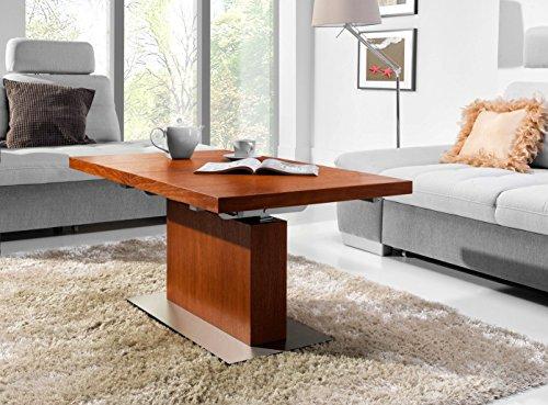 Design Couchtisch Tisch MN-7 Kirschbaum höhenverstellbar & ausziehbar
