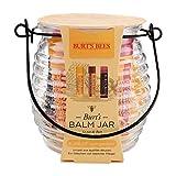 Set de regalo con bálsamo hidratante en tarro Burt's Bees con 1 bálsamo labial con cera de abejas original 100% natural, vitamina E y menta (4,25 g), 1 bálsamo labial con color: hibisco (4,25 g) y 1
