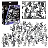 Fantasy Creatures Action Figure Playset - 90pc Monster Battle Novelty Toy Collection (Includes Dragons, Wizards, Orcs, and more) - Perfect for D & D Gaming