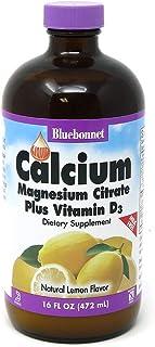 Bluebonnet Nutrition Liquid Calcium Citrate Magnesium Citrate, Vitamin D3, Bone Health, Gluten Free, Soy free, milk free, ...
