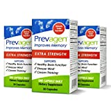 Prevagen Improves Memory - Extra Strength 20mg, 30 Capsules  3 Pack  with Apoaequorin & Vitamin D Brain Supplement for Better Brain Health, Supports Healthy Brain Function & Clarity Memory Supplement