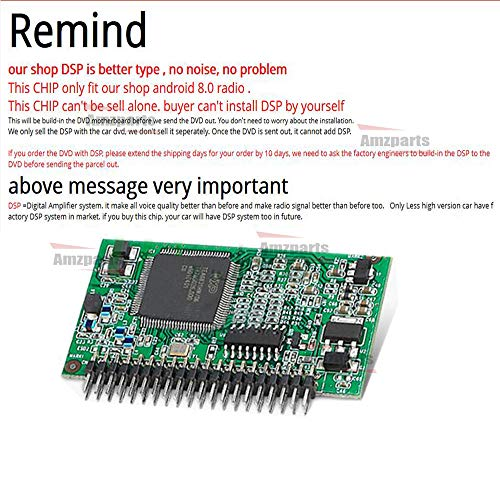 Amzparts DSP chip only for Android 8.0 Radio Stereo. Install DSP to Radio Motherboard, Make Voice Better More Than Before