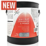 XIONLAB 2 In 1 Rust Converter & Metal Primer - Water Based UV Resistant Rust Reformer - No Top Coat Needed - Encapsulator Covers 2.5X More Area - Rust Inhibitor Can Be Applied On Damp Surface - Gallon
