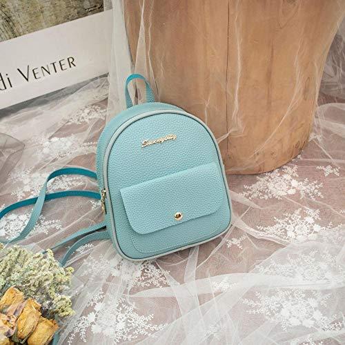 Rucksack Mini Rucksack Damen Umhängetasche Teen Mädchen Kinder Multifunktionalen Kleinen Rucksack Weibliche Damen Schulrucksack 11 Zoll Blau