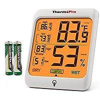 ThermoPro Indoor Hygrometer Humidity Gauge Indicator Digital Thermometer
