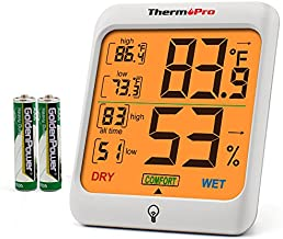 ThermoPro Indoor Hygrometer Humidity Gauge Indicator Digital Thermometer Room Temperature and Humidity Monitor with Touch Backlight