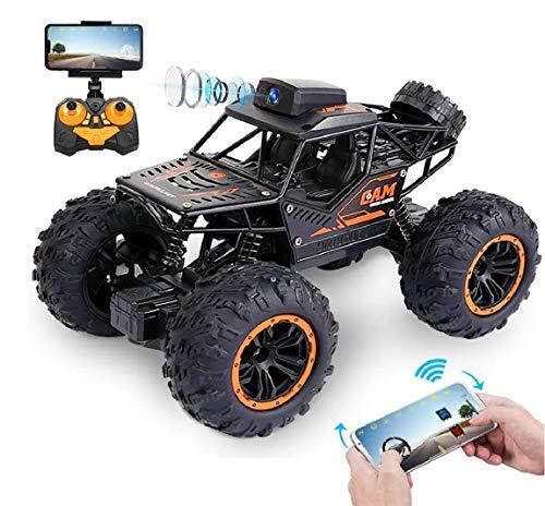 Ferngesteuertes Auto mit 720P FPV WiFi Kamera, 2,4 Ghz 1:18 Hohe Geschwindigkeit RC Auto Monster Buggy, Rock Crawler Fahrzeug, Geländewagen Geschenk für Kinder Jugendlichen Erwachsene