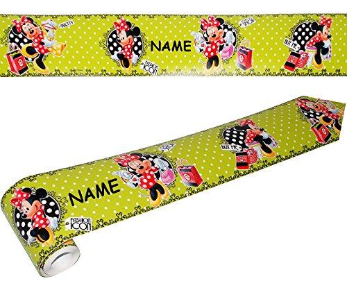 alles-meine.de GmbH Wandbordüre - selbstklebend -  Disney Minnie Mouse  - 5 m - incl. Name - Wandsticker / Wandtattoo - Bordüre Aufkleber Kinderzimmer - für Kinder Mädchen - Ma..