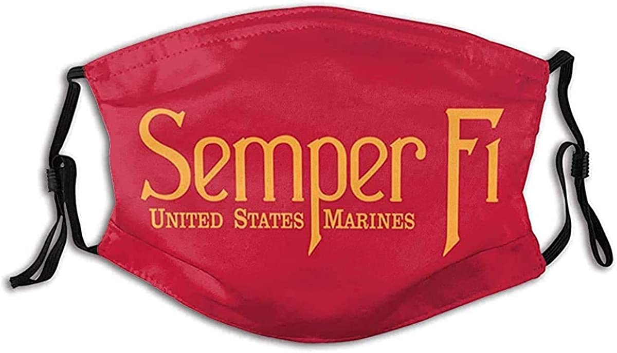 Marine Corps Spring new work Cheap super special price Veteran Face Mask Reusa Filter Pocket Washable with