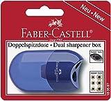 Faber-Castell 183597–Sacapuntas doble (, varios colores en rojo y azul–No es posible seleccionar el color de