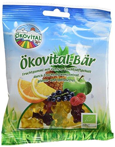 Ökovital Bio-Fruchtgummi Bär, glutenfrei, laktosefrei, 12er Pack (12 x 100 g)