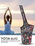 Lievt Animgb - Bolsa para esterilla de yoga, estilo casual, de lona, con bolsillo de gran tamaño con cremallera, se ajusta a la mayoría de las esterillas de yoga