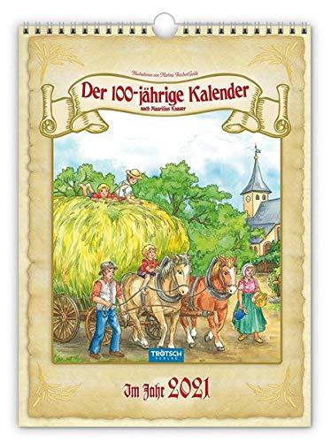 "Classickalender ""Hundertjähriger Kalender"" 2021: 24 x 33 cm, nach Mauritius Knauer"