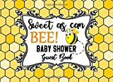 Sweet As Can Bee Baby Shower Guest Book: Honeycomb Honey Bumble Bee Hive Background Sign-in Guestbook + Memory Picture Keepsake and Gift Tracker Log Pages - 8.25 x 6