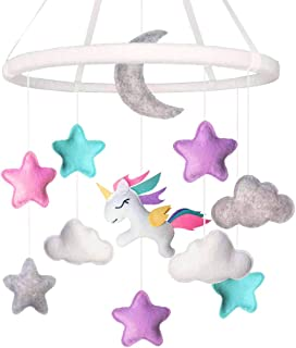 Land of Luna Unicorn Baby Mobile for Girl Nursery Decor (2019 New Design)