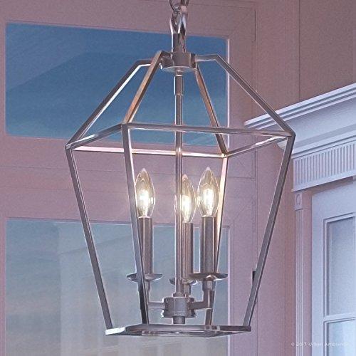 Colonial Silver Five Light Chandelier - 5