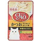 チャオ (CIAO) キャットフード パウチ かつお・ほたて味 40g×16個 (まとめ買い)