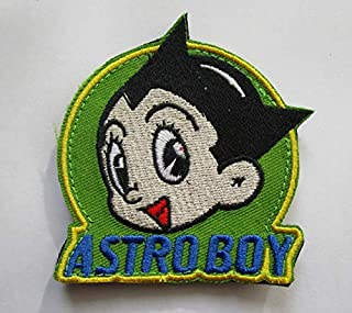 Robot Astro Boy Military Patch Fabric Embroidered Badges Patch Tactical Stickers for Clothes with Hook & Loop