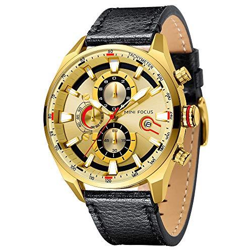 QUARKJK Reloj de Cuarzo de Lujo de la Marca de los Militares del Deporte Hombres de los Relojes de la…