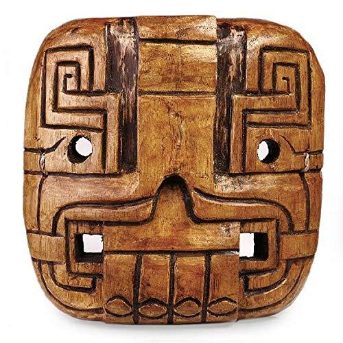 NOVICA 454.017,4cm Maya Dualität Zedernholz Maske, Braun