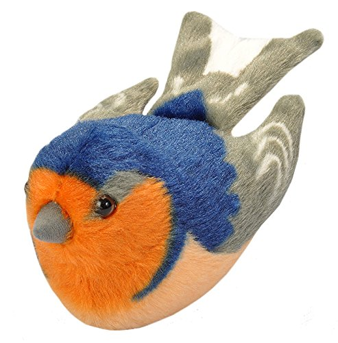 Wild Republic Audubon Birds Barn Swallow Plush with Authentic Bird Sound, Stuffed Animal, Bird Toys for Kids and Birders