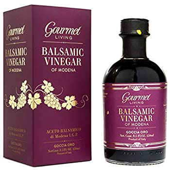 Gourmet Living Balsamic Vinegar of Modena - Aged balsamic vinegar from Italy - IGP Aceto Balsamico with no additives or preservatives - Traditionally aged in a battery of wood casks