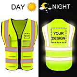 Personalized High Reflective Visibility Safety Vest Custom Your Logo Protective Safety Workwear with...