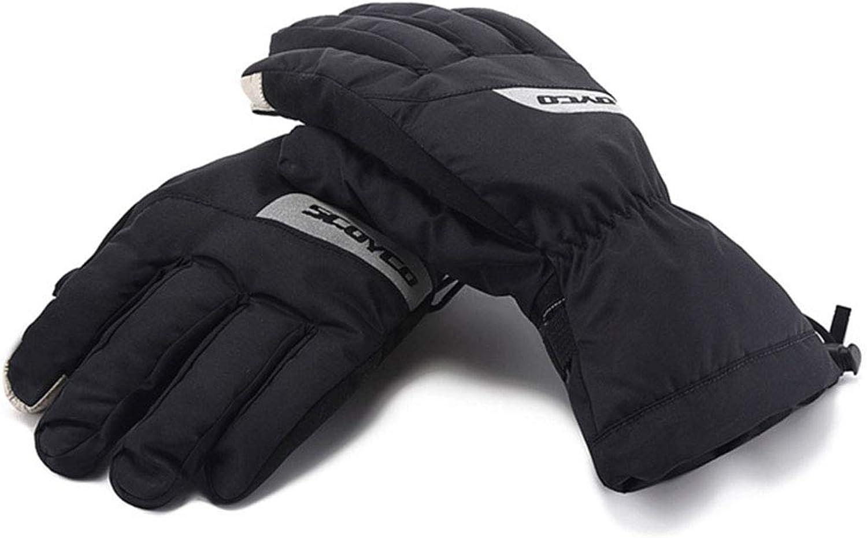 FELICIPP Touchscreen Motorrad Vollfingerhandschuhe für das Motorradklettern Wandern Jagd Angeln Radfahren Outdoor Sports (Farbe   schwarz, Größe   L)